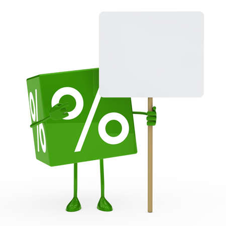 green sale cube show on a billboard photo