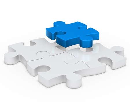 jigsaws: puzzle di segno jisaw con un blu fuori Archivio Fotografico