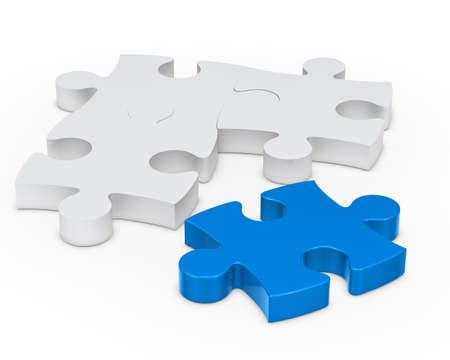 puzzle pieces: Puzzle jisaw Schild mit einem blauen heraus