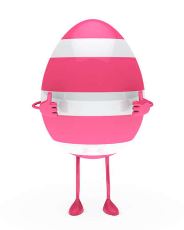 pink withe easter egg figure show top photo