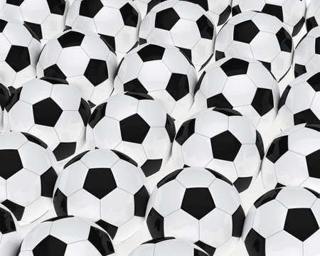 many soccer footballs be in a series Stock Photo - 12978316