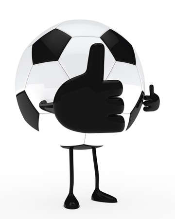 football figure shows top with bif thumb Stock Photo - 13186504