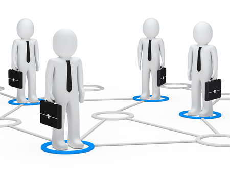 businessmen team stand togehter in a network photo