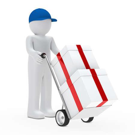 Abbildung Anbieter Push-Hand-LKW mit Geschenken