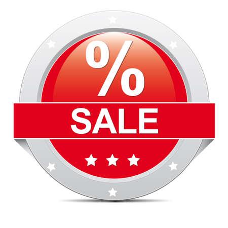 markdown: red big round   Sale Icon Banner