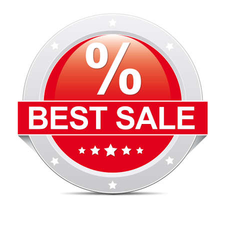 Red big percent best sale icon banner photo