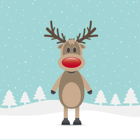 rudolph the red nosed reindeer: rudolph reindeer red nose snow falls night