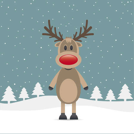rudolph the red nose reindeer: rudolph reindeer red nose snow falls night