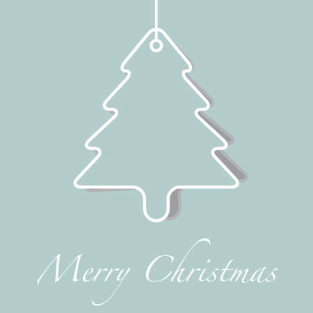 pine tree silhouette: merry christmas green tree silhouette card background