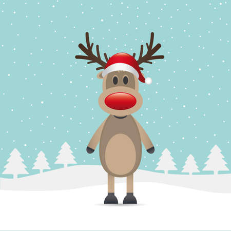 rudolph the red nose reindeer: rudolph reindeer red nose santa claus hat
