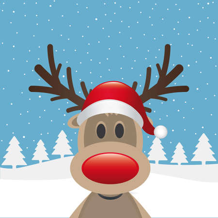 red nosed: rudolph reindeer red nose santa claus hat