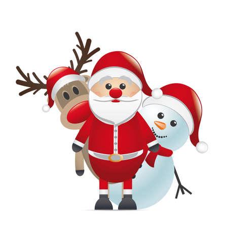 루돌프의 빨간 코 순록이 산타 클로스를보고