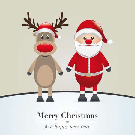 rudolph the red nosed reindeer: reindeer red nose and santa claus hat