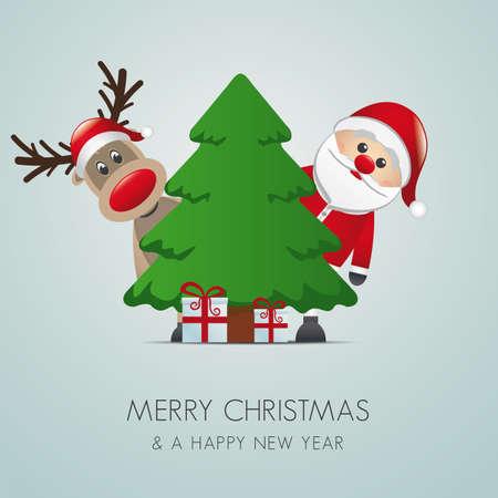 renna: Babbo Natale renna albero di Natale regalo