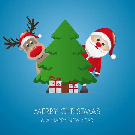 pinetree: reno santa claus christmas tree gift box
