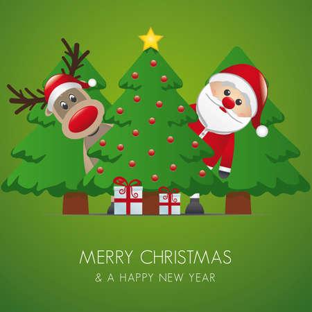 rudolph the red nosed reindeer: reindeer santa claus christmas tree gift box