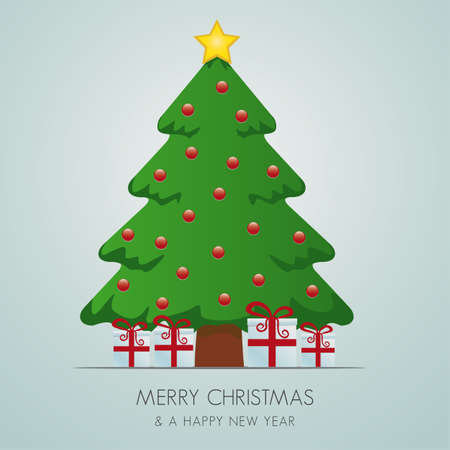 suprise: red white gift boxes merry christmas tree