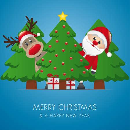 suprise: reindeer santa claus christmas tree gift box