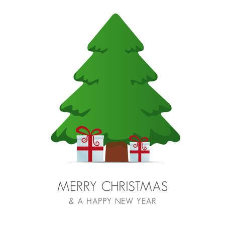 pinetree: rojo, blanco, cajas de regalo Pinetree Feliz Navidad