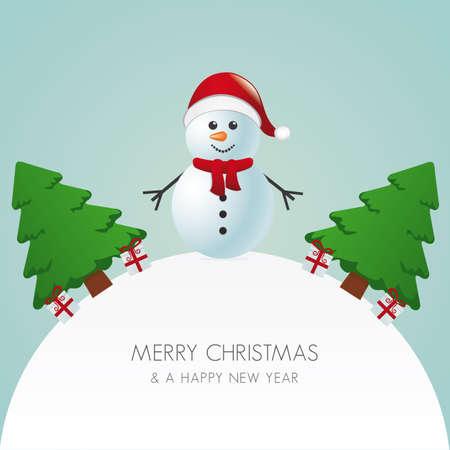 boule de neige: bonhomme de neige bonnet arbre de Noël et cadeaux du monde