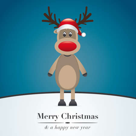 rudolph the red nose reindeer: reindeer red nose and santa claus hat