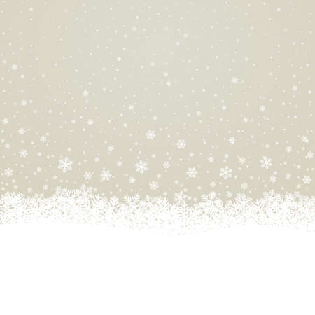 fall snowflake snow stars brown white background Stock Vector - 16429425