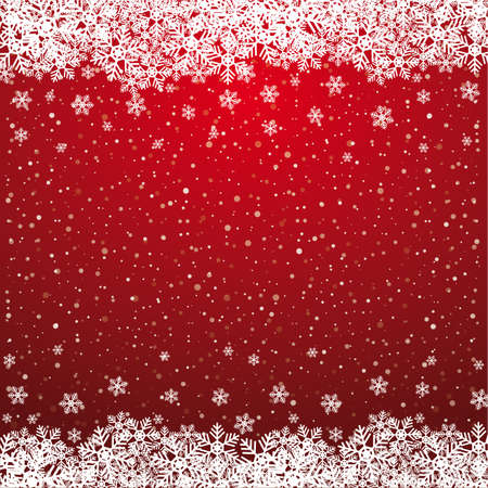 snow crystals: fall snowflake snow stars red white background