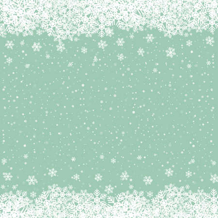 fall snowflake snow stars green white background Stock Vector - 16429520