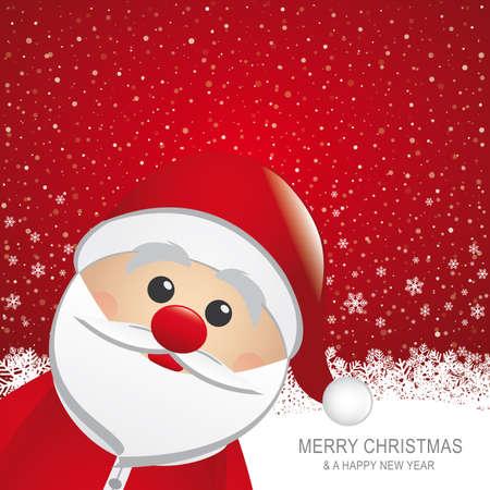 santa red hat snow snowflake snow background Stock Vector - 16429517