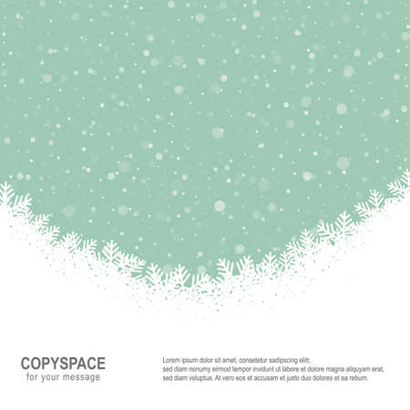 fall snowflake snow stars green white background Stock Vector - 16429414