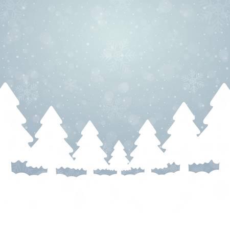 tree snowflake snow stars blue white background Stock Vector - 16469424