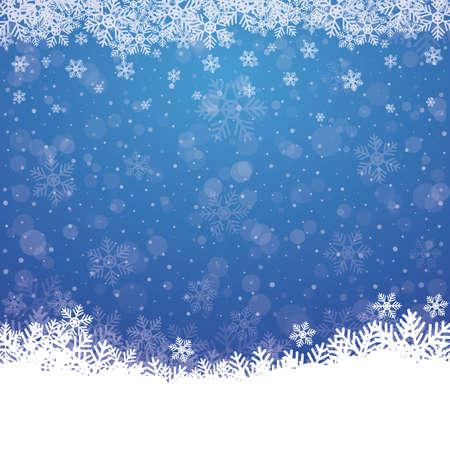 fallen, Schneeflocke, Schnee stars blue white background Vektorgrafik