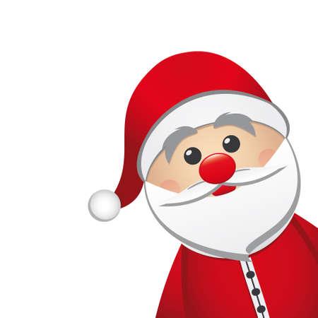 산타 클로스 흰색 배경에 고립 일러스트