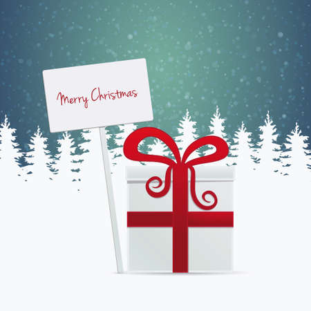 gift merry christmas banner Vector