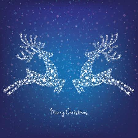 snowy background: estrellas renos fondo nevado