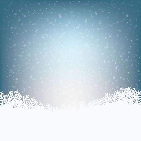 christmas snow: winter snowy background Illustration