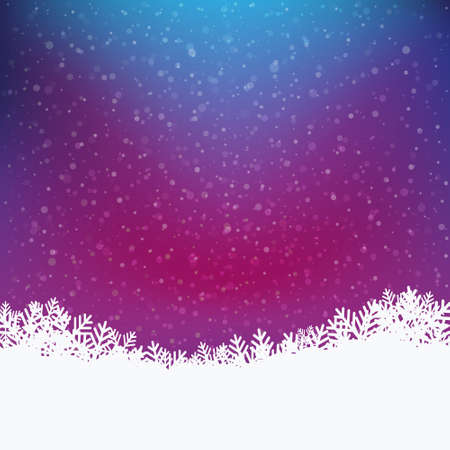 snowy background: colorido fondo nevado invierno Vectores