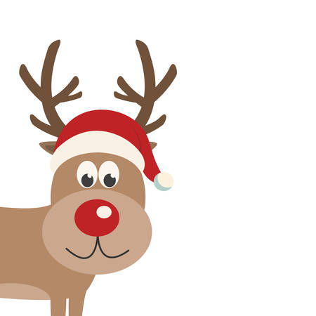 santa       hat: reindeer santa hat isolated background
