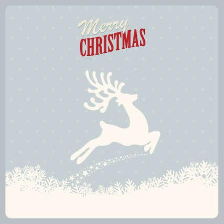 renos de navidad: reno vuela feliz navidad Vectores