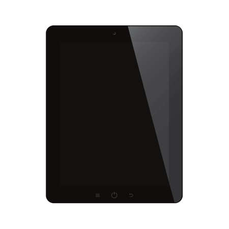 tablet computer with black screen on isolated background Vector