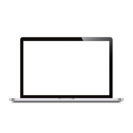 laptop screen: laptop open screen white background