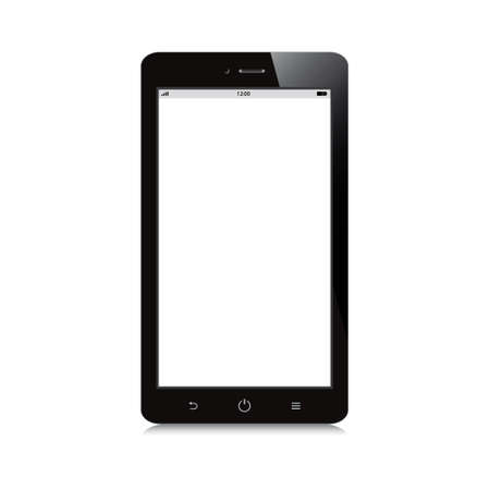 smartphone with white blank screen on white background Vector