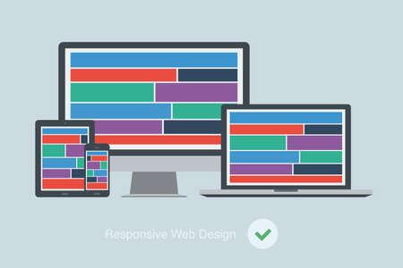 responsive design: flat responsive web design device