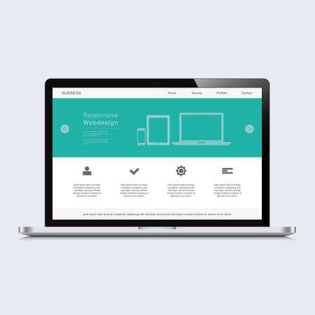 responsive design: laptop responsive web design