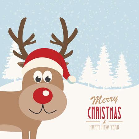 kârlı: reindeer snowy background