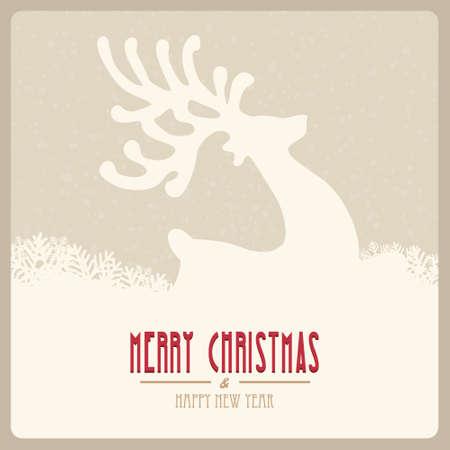 season's greeting: reindeer fly merry christmas