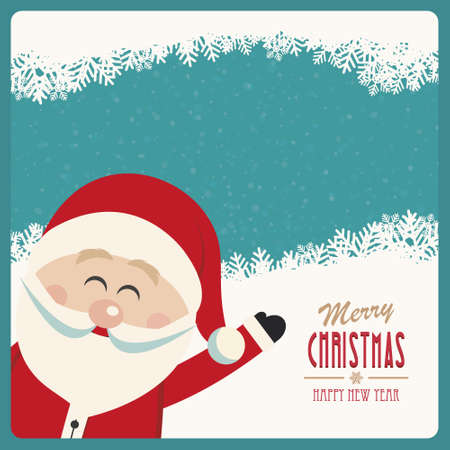 santa claus background: santa claus wave side vintage winter background