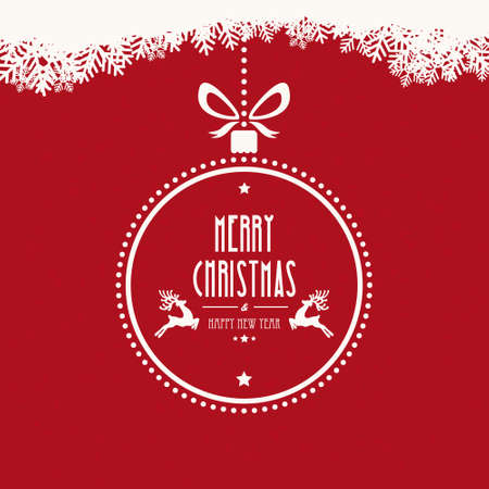 christmas holiday: christmas ball merry christmas snowflakes background