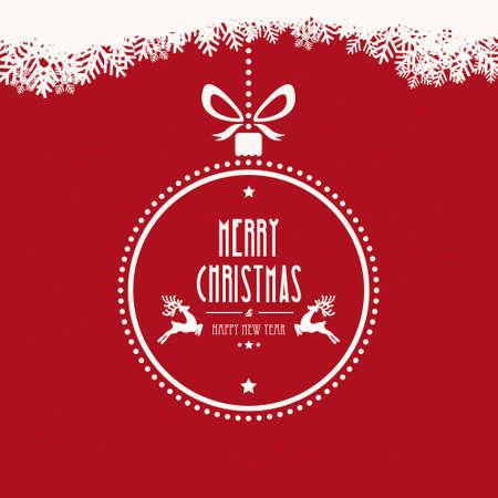 Merry christmas ball flocons de neige noël fond Banque d'images - 33600944