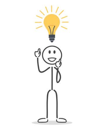 goed idee: man hebben een goed idee Stock Illustratie